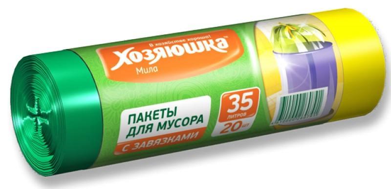Пакеты для мусора Хозяюшка Мила 07005 салфетка бытовая хозяюшка мила 04001 мила 04001