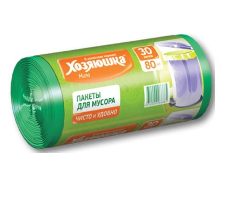 Пакеты для мусора Хозяюшка Мила 07019 салфетка бытовая хозяюшка мила 04001 мила 04001