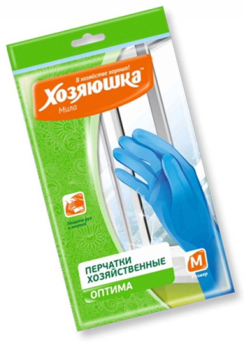 Перчатки хозяйственные оптима Хозяюшка Мила M 17023 перчатки хозяйственные оптима хозяюшка мила m 17023