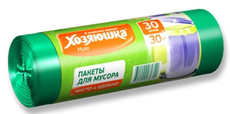 Пакеты для мусора Хозяюшка Мила 07002 салфетка бытовая хозяюшка мила 04001 мила 04001