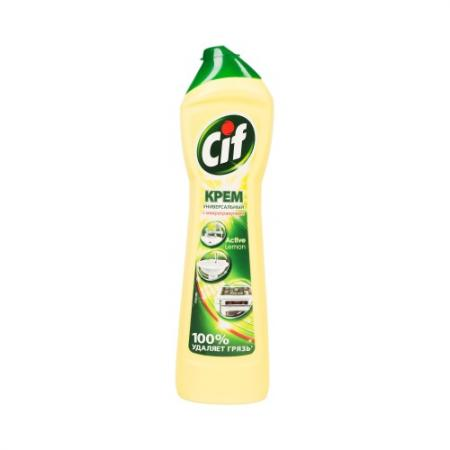 CIF Чистящий крем Актив Лимон 500мл аква минерале актив лимон 0 6 л бутылка