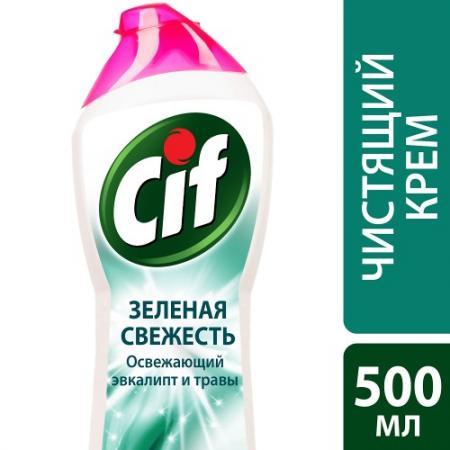 CIF Чистящий крем Зеленая свежесть 500мл cif чистящий крем active fresh универсальный 500 мл