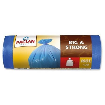 PACLAN Мешки для мусора в рулоне BIG&STRONG 160л 20шт мешки для мусора paclan big