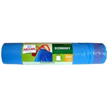PACLAN Мешки для мусора с завязками ЭКОНОМ 120л 10шт мешки для мусора paclan big
