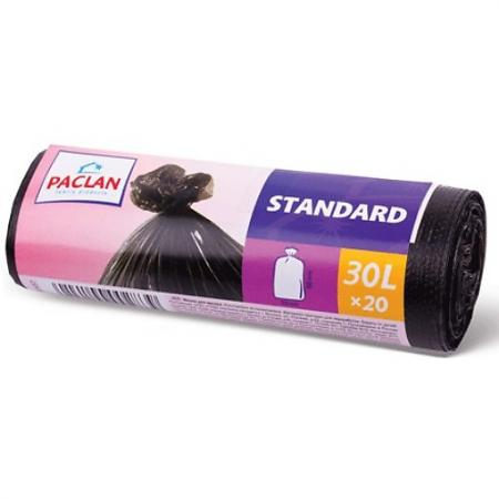 PACLAN Мешки для мусора STANDART 30л 20шт мешки для мусора paclan big