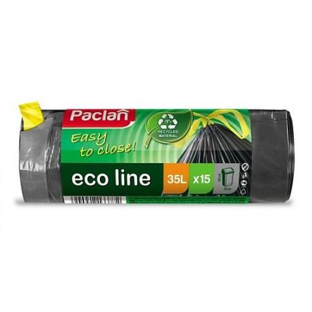 PACLAN Мешки для мусора с тесьмой ECO LINE 60л 15шт мешки для мусора paclan big