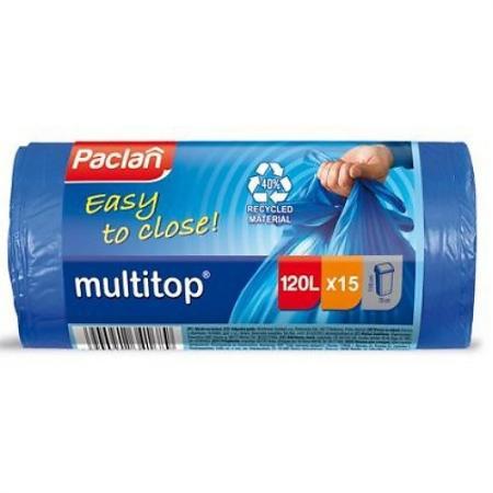 PACLAN Мешки для мусора MULTI-TOP 60л 20шт мешки для мусора politan мешки для мусора 60л
