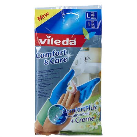 ВИЛЕДА Перчатки Комфорт с кремом для чувствительной кожи L vileda сушилка для белья вива драй баланс vileda