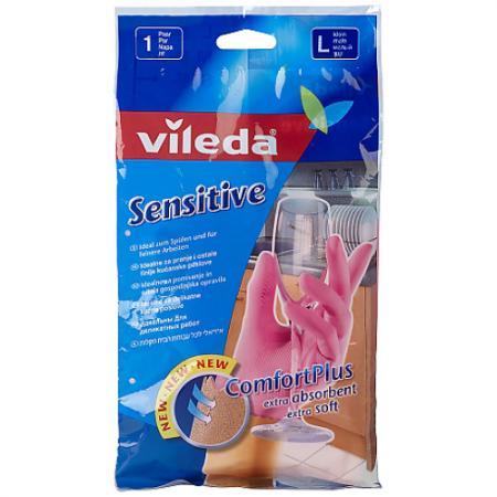 ВИЛЕДА Перчатки для деликатных работ L vileda сушилка для белья вива драй баланс vileda