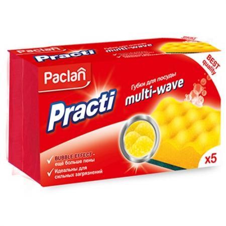 Paclan Practi Multi-Wave Губки для посуды 5 шт paclan 1 40