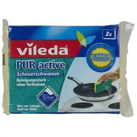 ВИЛЕДА Губка для плит Пур-Актив 2 шт vileda сушилка для белья вива драй баланс vileda