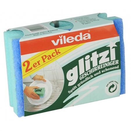 ВИЛЕДА Губка для посуды Глитци 2 шт vileda сушилка для белья вива драй баланс vileda