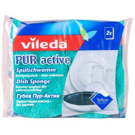 ВИЛЕДА Губка для посуды ПУР-Актив 2 шт губка vileda для посуды пур актив 2 шт 116511