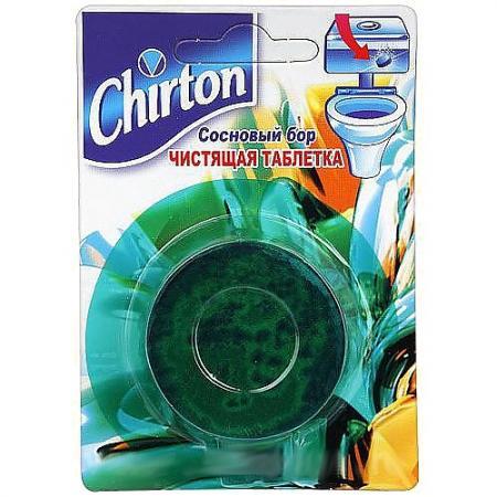CHIRTON Чистящие Таблетки для унитаза Сосновый бор 50г таблетка чистящая для унитаза chirton сосновый бор 50 г