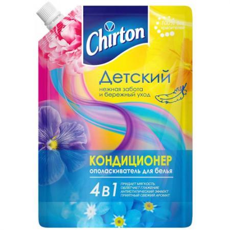 CHIRTON Кондиционер для белья Для детского белья 750мл дой-пак гель для стирки chirton концентрированный для детского белья 750мл