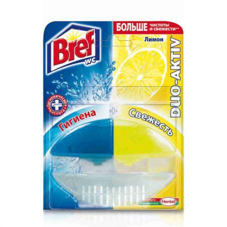 BREF Дуо-Актив Блок туалетный жидкий Лимон 50мл оригинал аква минерале актив лимон 0 6 л бутылка