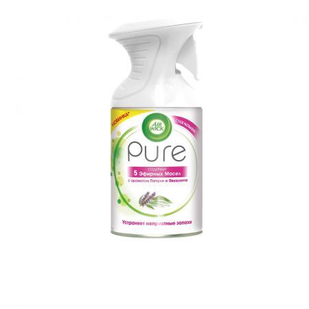 Air Wick Pure Освежитель воздуха 5 Эфирных Масел с ароматом Пачули и Эвкалипта 250 мл air wick pure освежитель воздуха 5 эфирных масел с ароматом цветущего лимона 250 мл
