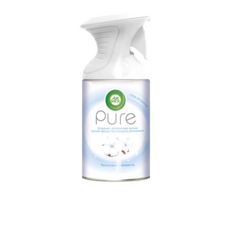 AIRWICK Pure Освежитель воздуха Природная свежесть 250 мл освежитель воздуха airwick антитабак свежесть водопада 240 мл