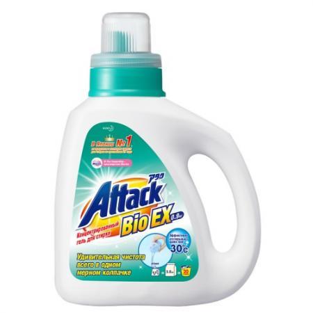 все цены на ATTACK BioEX Концентрированный универсальный гель для стирки бутылка 0,9 кг