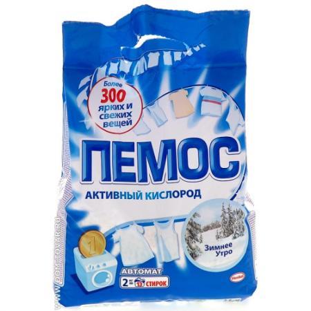ПЕМОС Порошок стиральный Автомат Зимнее утро 2кг пемос порошок стиральный колор пемос 3 5 кг