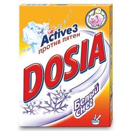 DOSIA Стиральный порошок автомат Белый снег 400г dosia стиральный порошок автомат белый снег 1 8 кг