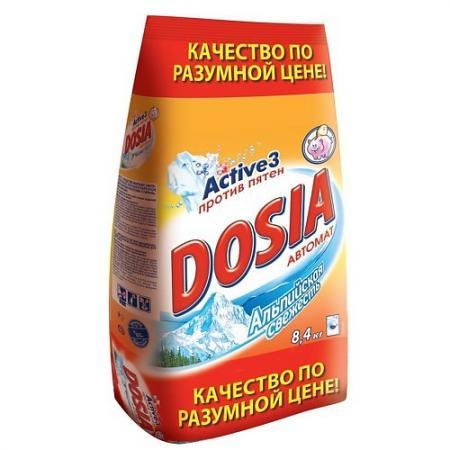 DOSIA Стиральный порошок автомат Альпийская свежесть 8,4 кг dosia стиральный порошок автомат белый снег 1 8 кг