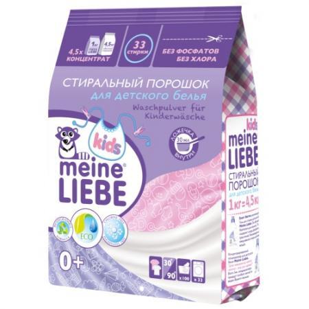 MEINE LIEBE Стиральный порошок для детского белья 1000г стиральный порошок meine liebe для белых и светлых вещей oxi эффект концентрат 1000 г ml 31203