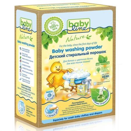 BABYLINE Детский стиральный порошок на основе натуральных ингредиентов 2,25кг babyline детский стиральный порошок концентрат 2 25 кг