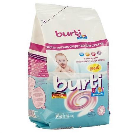 BURTI Концентрированный стиральный порошок Burti Compact Baby для детского белья 0.9кг стиральный порошок burti color для цветного белья 1 5 кг
