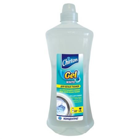 CHIRTON Гель - концентрат для стирки Для белых тканей 1540 мл бытовая химия chirton гель для чистки туалета лимон 750 мл