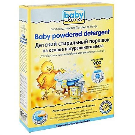 BABYLINE Детский стиральный порошок на основе натурального мыла 900гр babyline детский стиральный порошок концентрат 2 25 кг