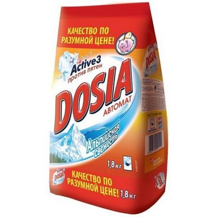 DOSIA Стиральный порошок автомат Альпийская свежесть 1,8 кг dosia стиральный порошок автомат белый снег 1 8 кг