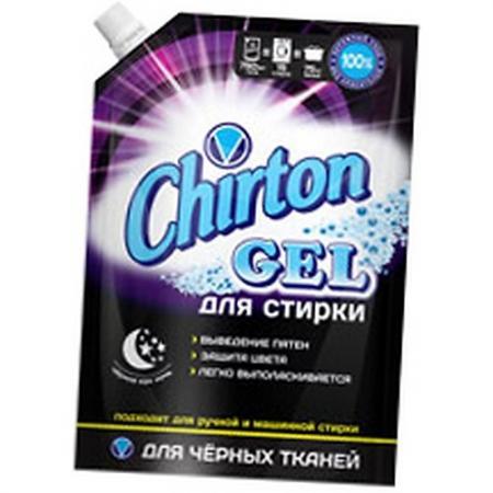 CHIRTON Гель для стирки концентрированный для черных тканей 750мл гель для стирки chirton концентрированный для детского белья 750мл