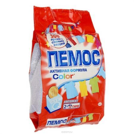 ПЕМОС Порошок стиральный Автомат Колор 2кг пемос порошок стиральный колор пемос 3 5 кг