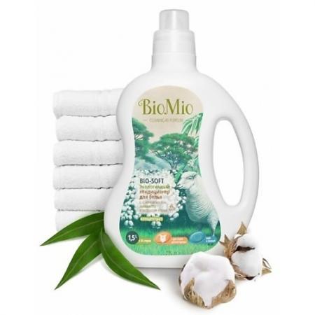 BioMio Экологичный кондиционер для белья Bio-Soft Концентрат экологичный с эфирным маслом эвкалипта детские моющие средства biomio экологичный стиральный порошок для белого белья без запаха 1500 г