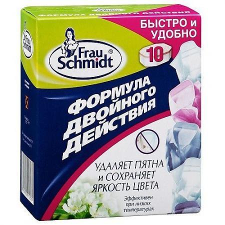 FRAU SCHMIDT Пятновыводитель и отбеливатель Формула двойного действия 10 таб. frau schmidt таблетки для отбеливания безупречная белизна 10 таб