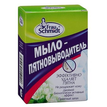 FRAU SCHMIDT Мыло-пятновыводитель 100 г таблетки для отбеливания frau schmidt безупречная белизна 2 шт