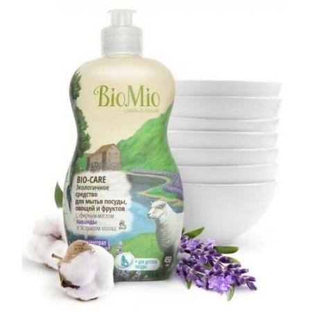 BioMio Концентрат экологичный для мытья посуды, овощей и фруктов Bio-Care с эфирным маслом лаванды, косметика для мамы la cigale мыло твердое cigale bio с эфирным маслом лаванды 100 г