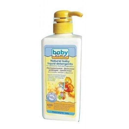 BABYLINE Натуральное детское моющее средство для посуды, овощей и фруктов, 600 мл. babyline натуральное детское моющее средство для мытья детских ванн и горшков 500 мл