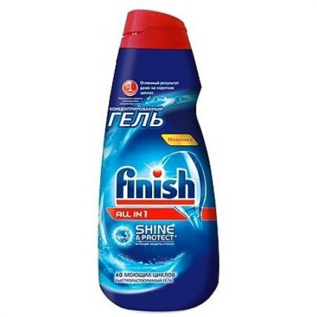 FINISH Shine&Protect All in1 Средство для мытья посуды в посудом.машинах гель 1000мл
