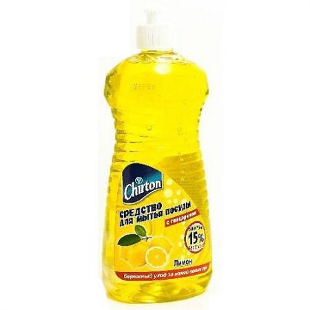 CHIRTON Средство для мытья посуды Лимон 500мл 75мл chirton стеклоочиститель апельсин с распылителем 500мл 250мл промо