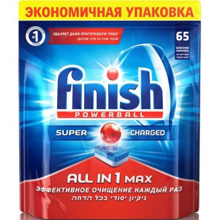 FINISH All in1 Max Средство для мытья посуды в посудомоечных машинах таблетки 65шт
