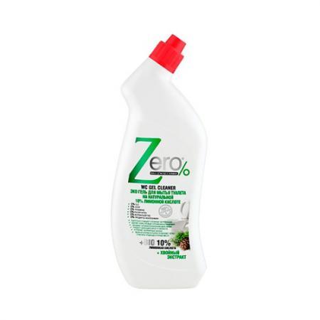 ZERO Гель для мытья туалета Лимонная кислота Хвойный экстракт 750 мл