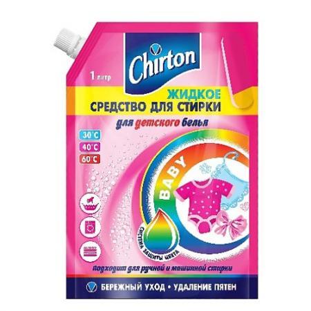 CHIRTON Жидкое средство для стирки детского белья 1000мл гель для стирки chirton концентрированный для детского белья 750мл