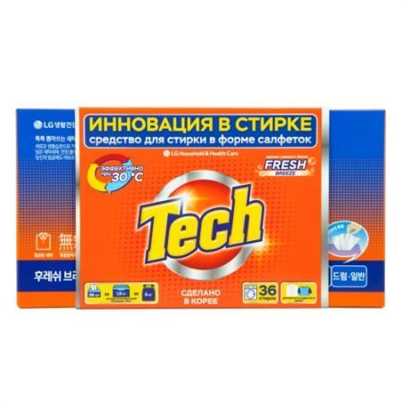 Фото - TECH Средство для стирки в листах fresh breeze 36 шт hi fi стойка solid tech ros 2 regular cherry