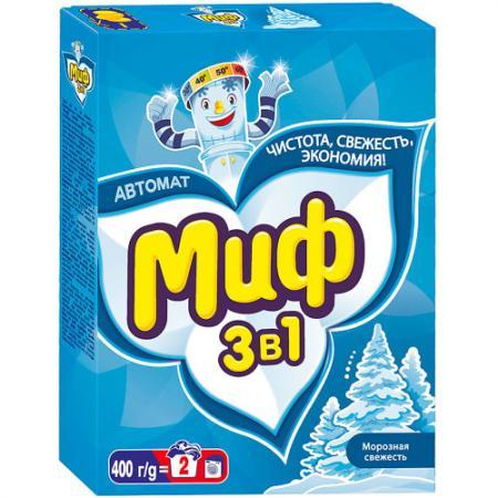 МИФ Стиральный порошок автомат 3в1 Морозная свежесть 400г миф