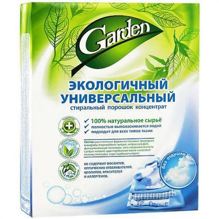 Стиральный порошок GARDEN Экологичный без отдушки 400г детские моющие средства biomio экологичный стиральный порошок для белого белья без запаха 1500 г