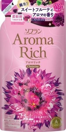 цены Кондиционер для белья Lion Aroma Rich Christine с пряным фруктовым ароматом запасной блок 450 мл