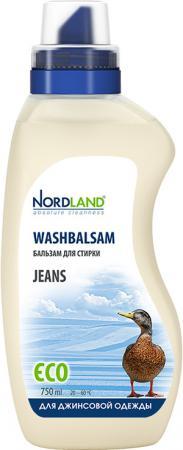 Жидкое стредство для стирки NORDLAND Jeans 750мл бальзам для стирки nordland eco универсальный 750 мл