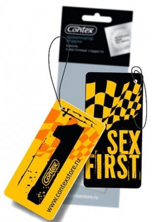 Картинка для CONTEX Ароматизатор воздуха картонный с подвеской Sex First Прохлада ночного сада